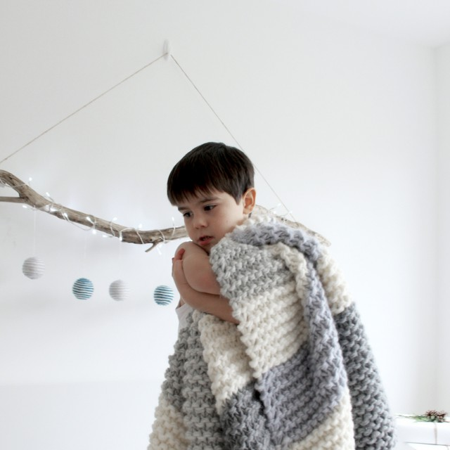 Olga Prinku handmade knit blanket | Holiday Decor