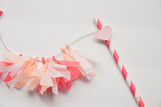 Easy DIY Tassel Garland Cake Topper for Valentine's Day by Creative Wife & Joyful Worker