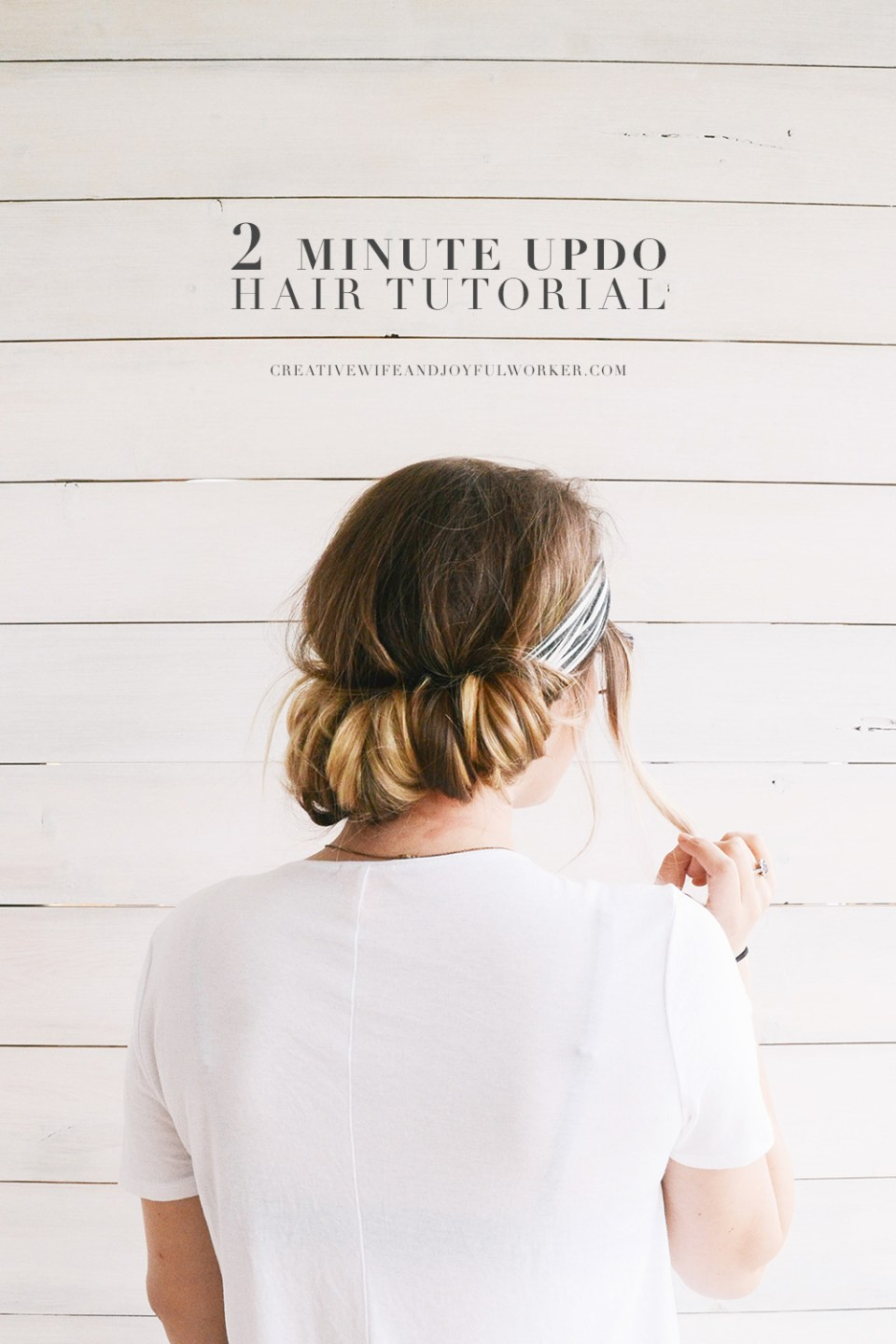 Easy Step by Step Two Minute Headband Hair Tutorial