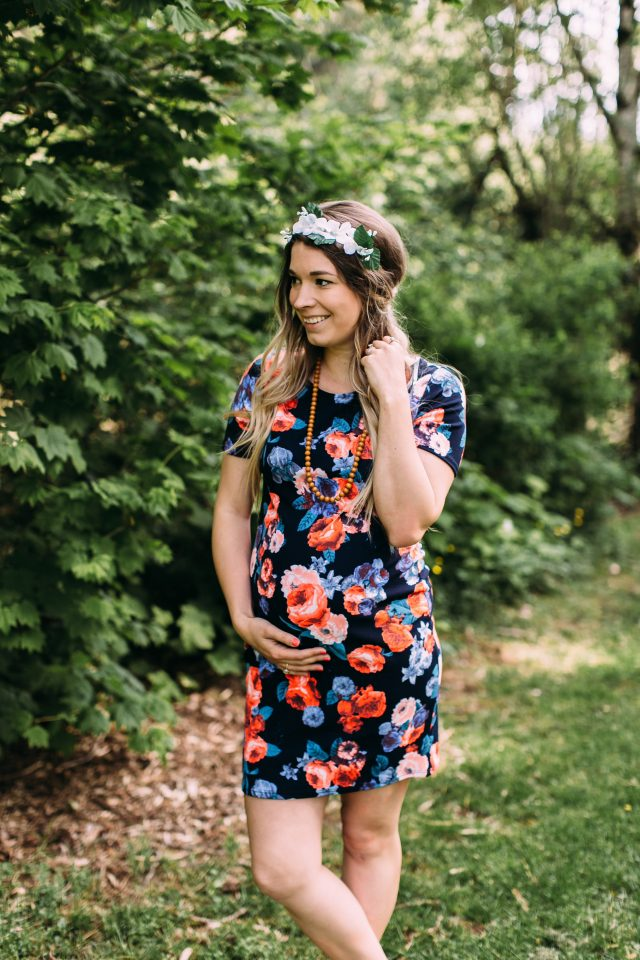 Cute Maternity Floral Dress