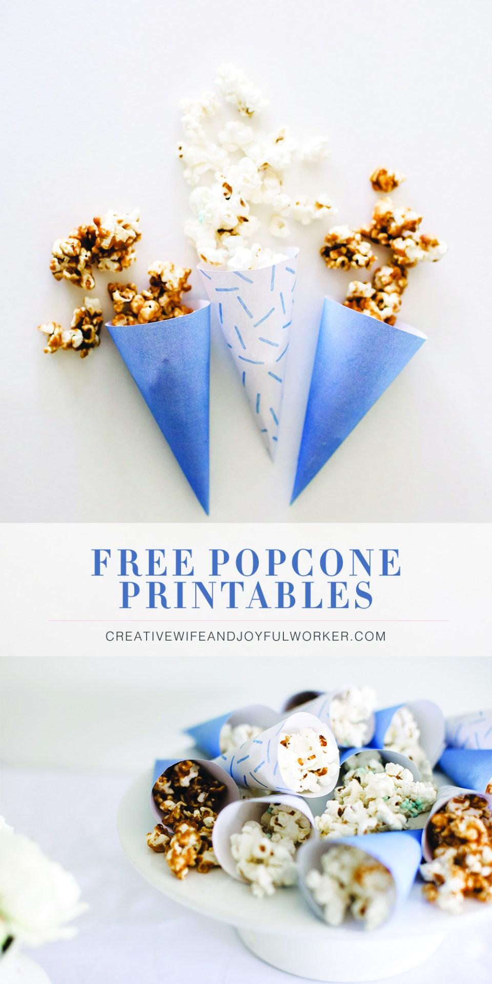 Free Popcone Printables