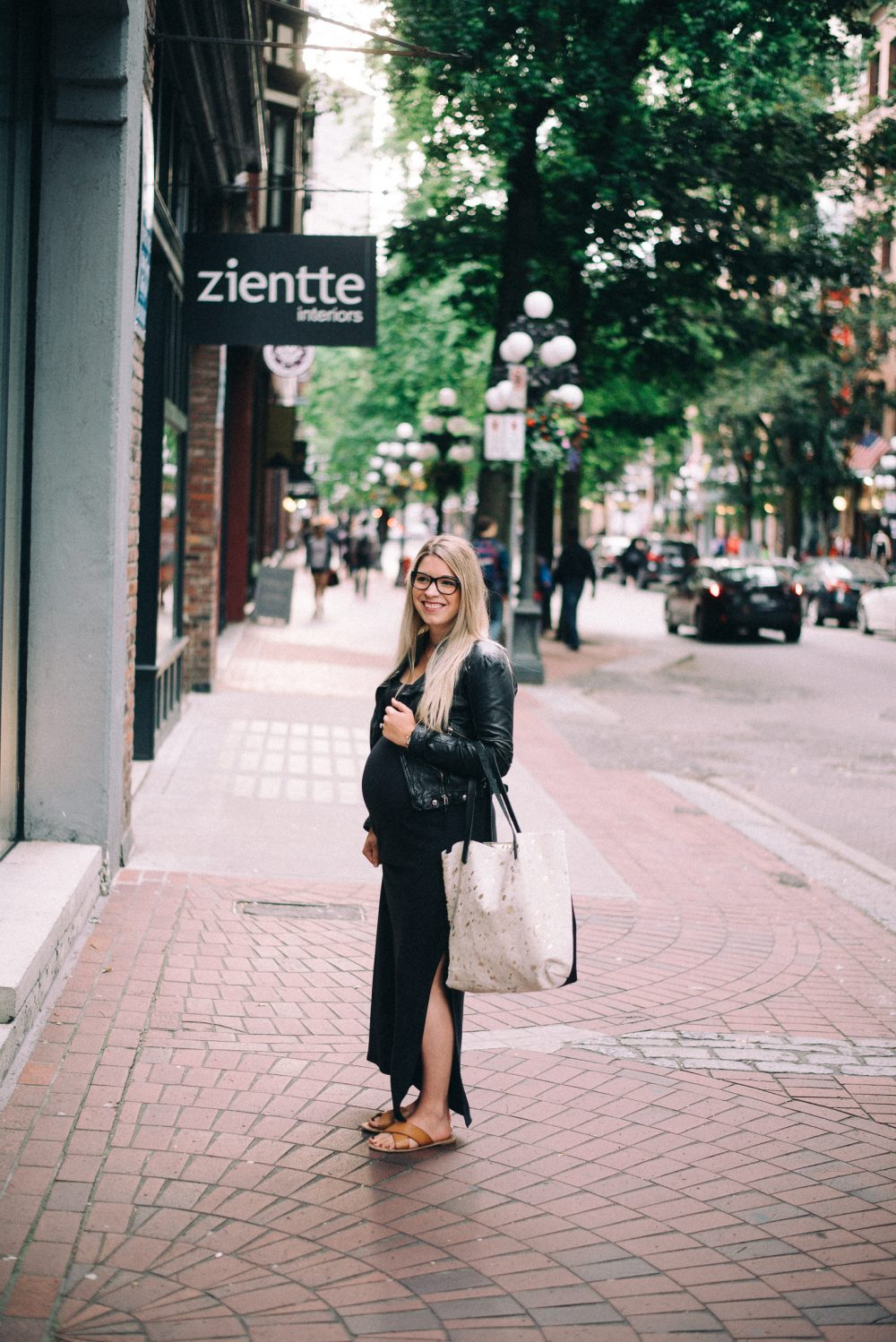 Business Casual Maternity Style made by Vancouver designer Nicole Bridger
