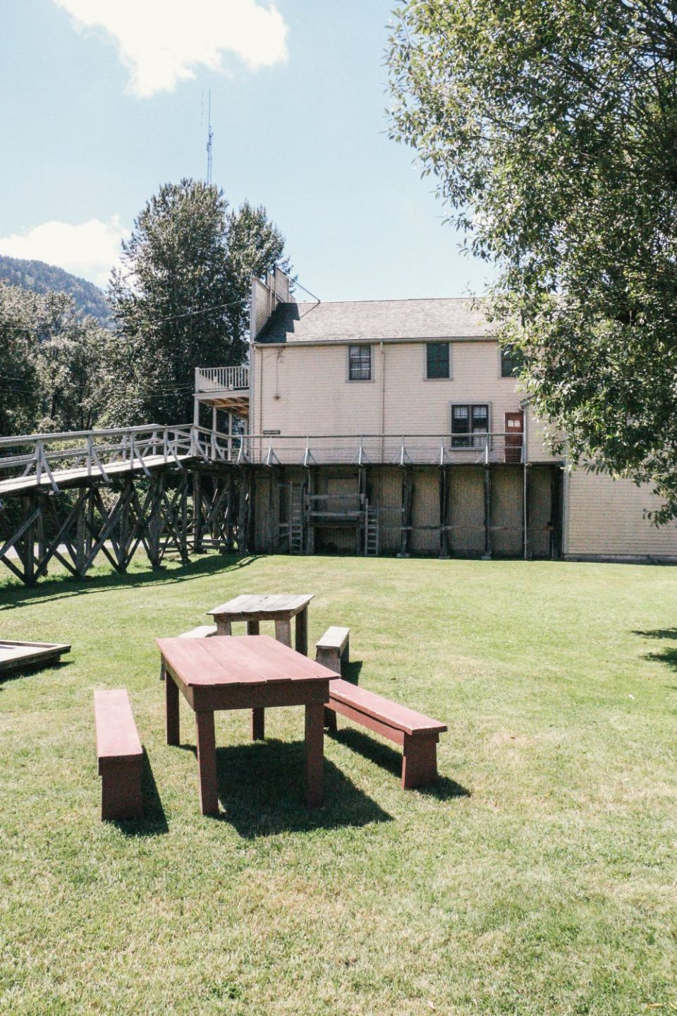 Kilby Historic Site towards Harrison Hot Springs