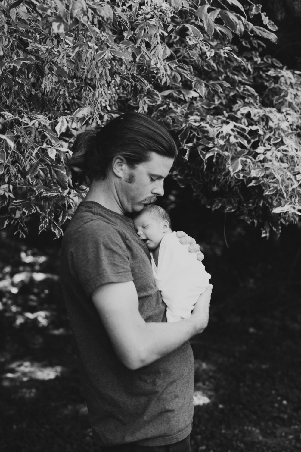 Father and Daughter   Newborn Baby Photography