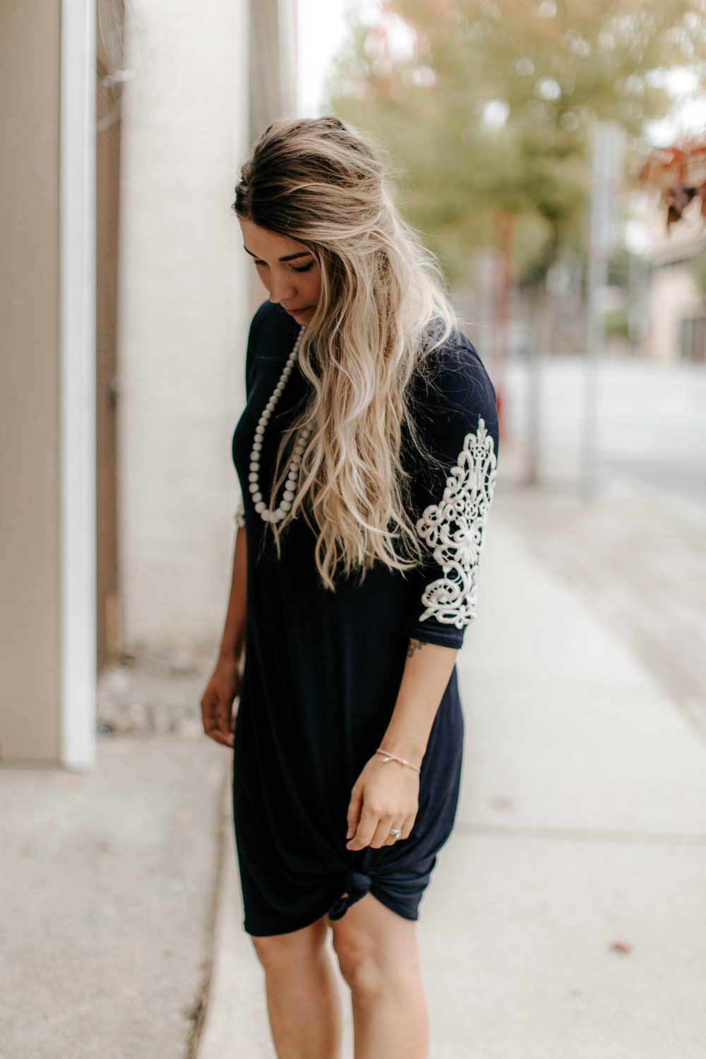 Long Sleeve with Lace Cute Dresss