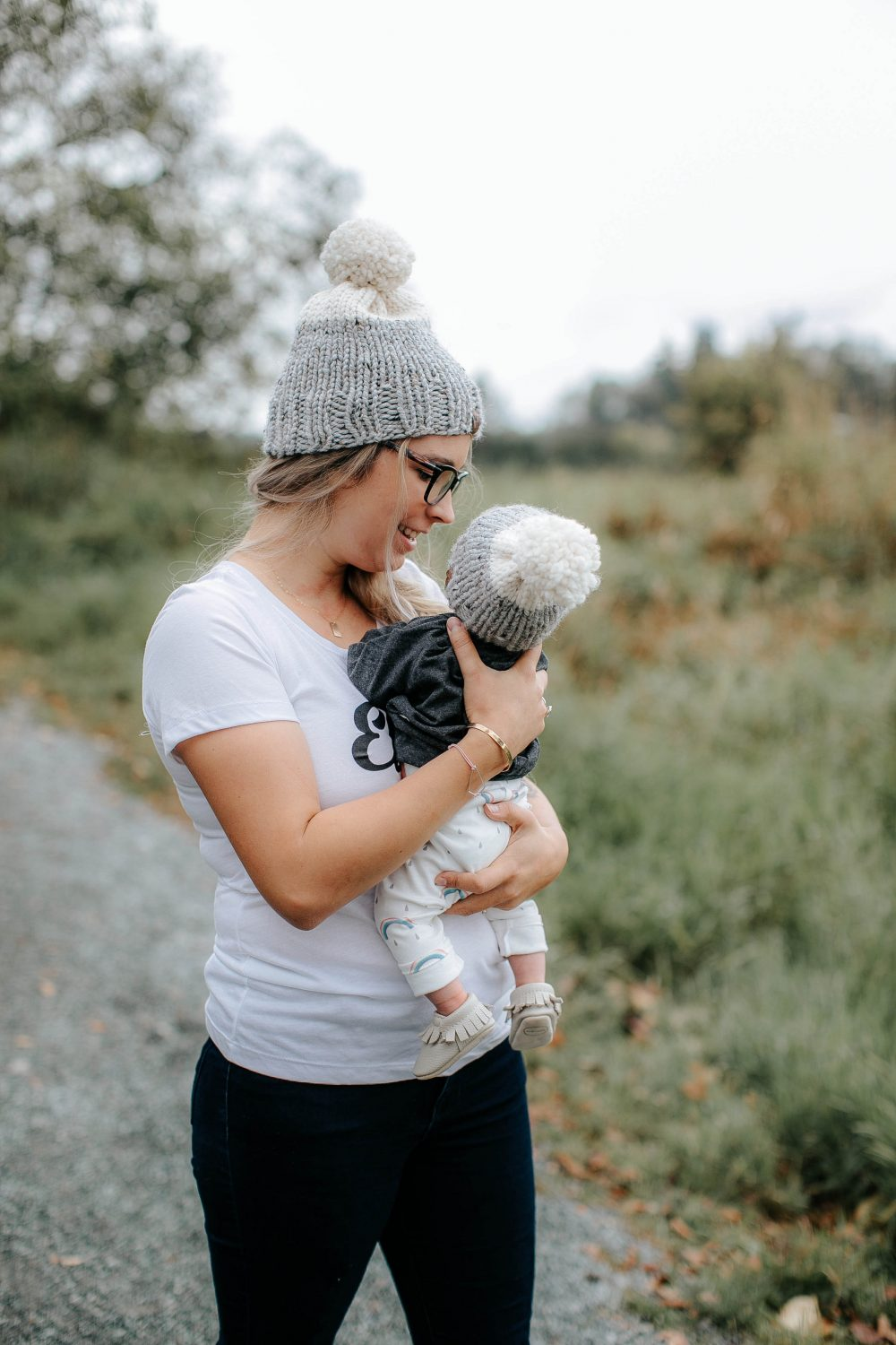 Mom and Baby Matching Knitted Beanies for Fall | Wild Child Designs