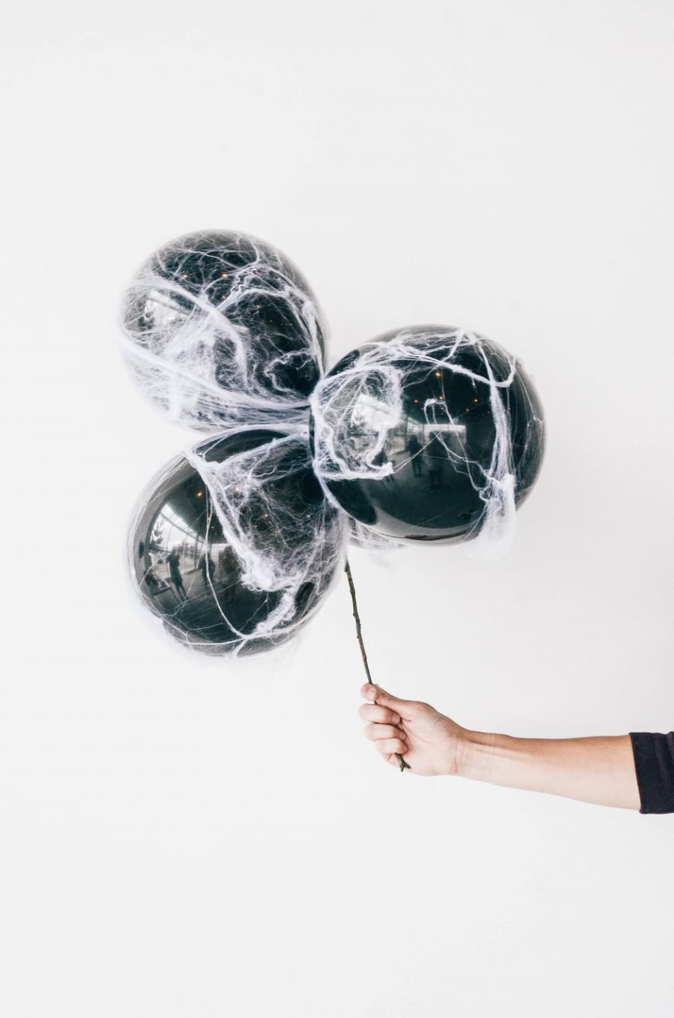 DIY Spooky Spiderweb Balloon for Halloween