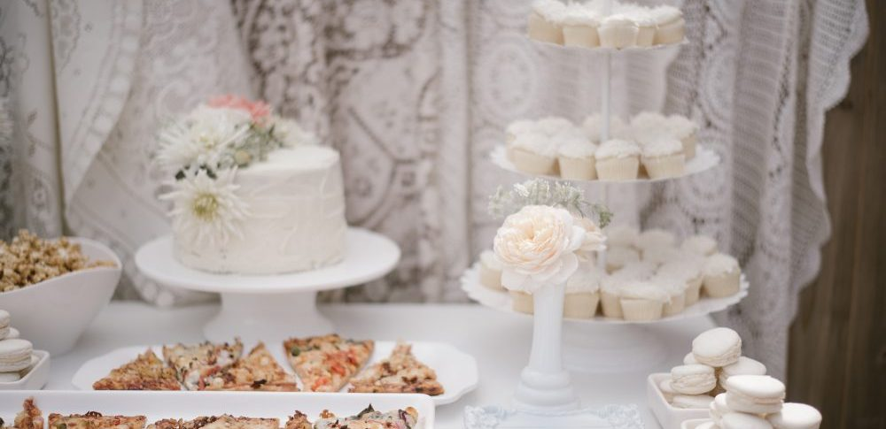 White Lace Themed Dessert Table