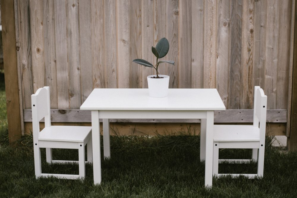 kids table white lace party table | White Boho Baby Shower