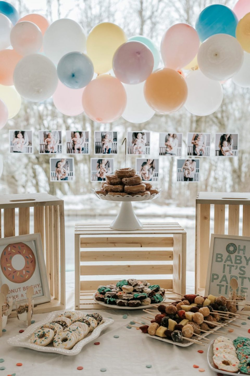 Donut Party Favour Tag Free Printable