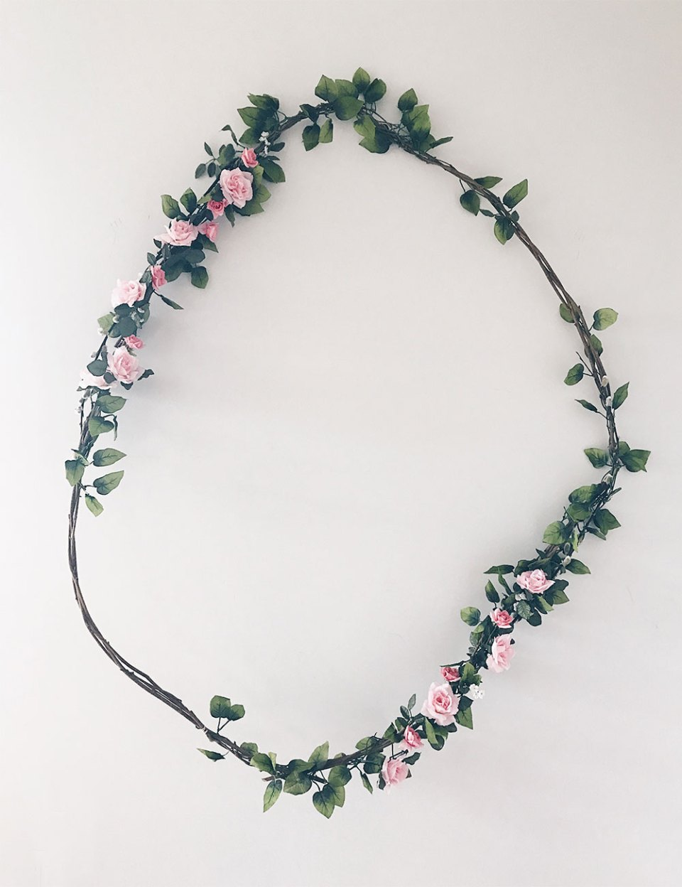 DIY Large Floral Wreath for Under Ten Dollars