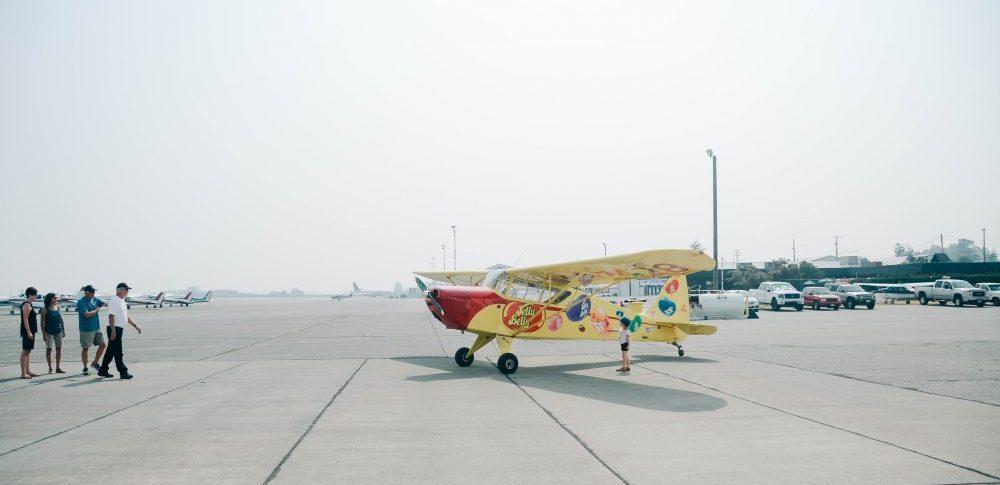 Jelly Bean Airplane   Abbotsford International Airshow Media Flight