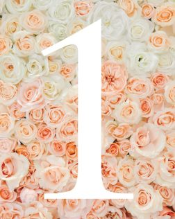 First Birthday Number 1 Free Printable   Floral Themed Party Decor