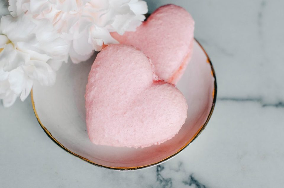 Heart Shaped Macarons for Valentine's Day by Vanilla Bean Bakery | Valentine's Themed Gift Ideas