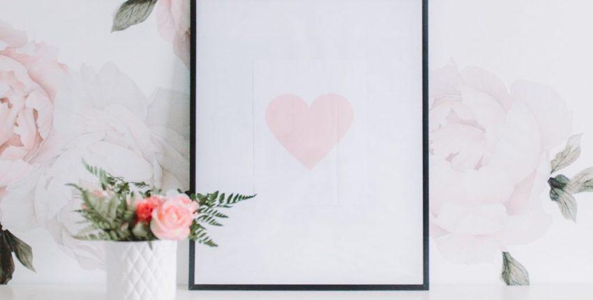 Blush Pink Heart Free Printable Download