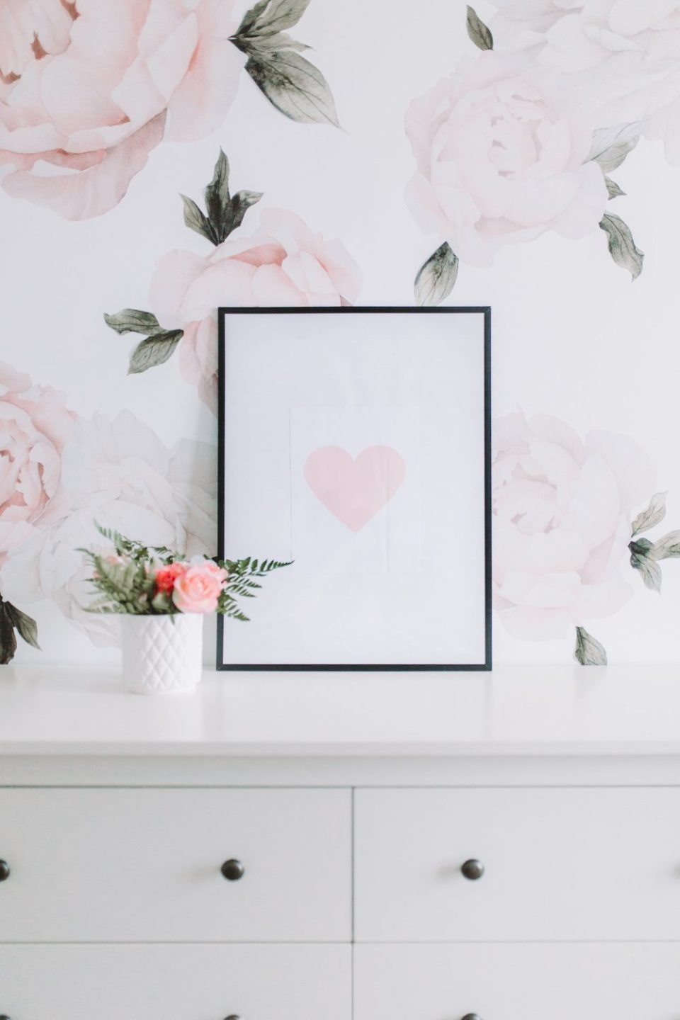 Blush Pink Heart Free Printable Download