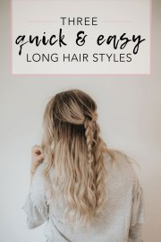 3 quick and easy hairstyle ideas
