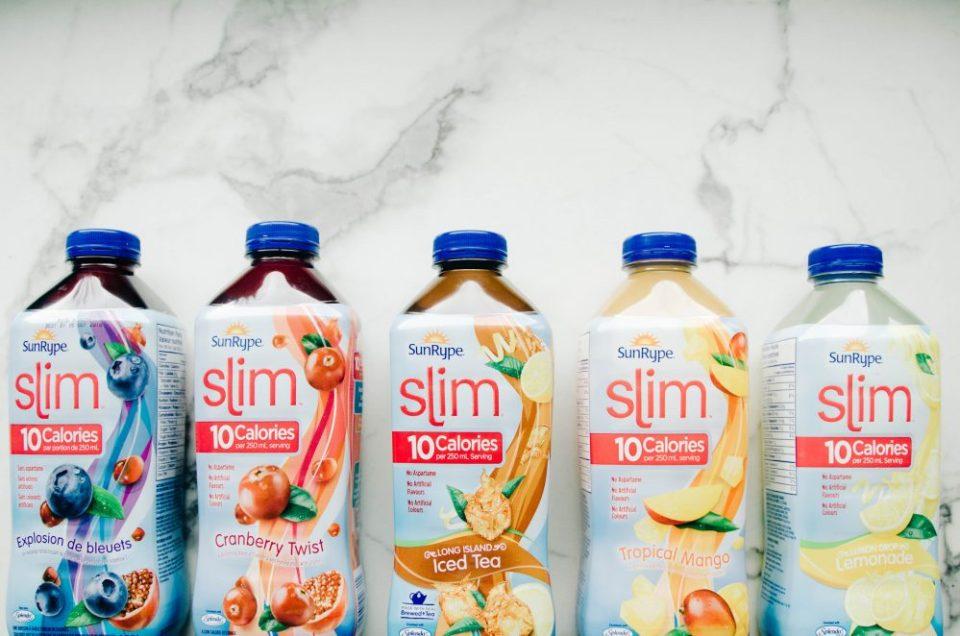 Low-Calorie Blueberry Lemonade Mocktail Recipe Using SunRype Slim 10 Lemondade