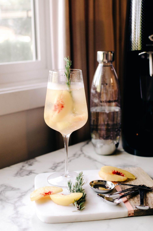 Elderflower and Peach Sparkling Water Recipe
