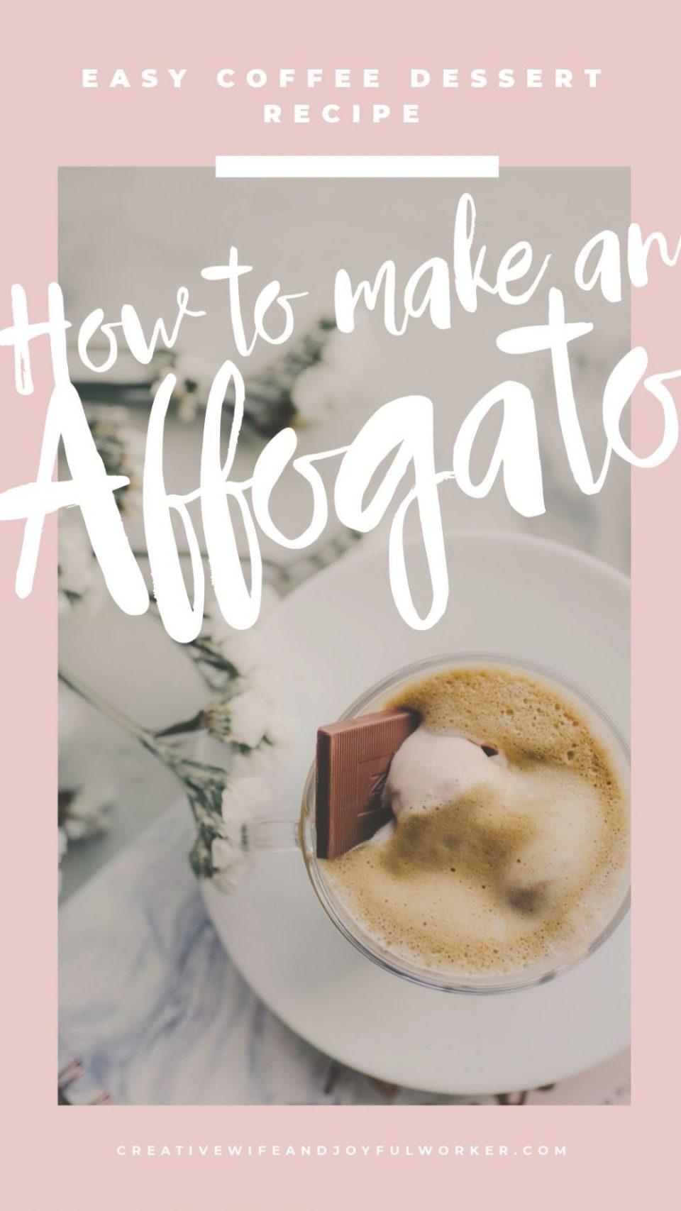 How to Make an Affogato   Easy Coffee Dessert Recipe using a nespresso