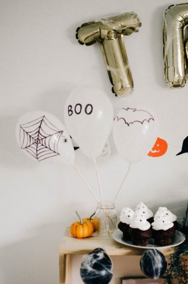 Kids Halloween Party Decor Table set up