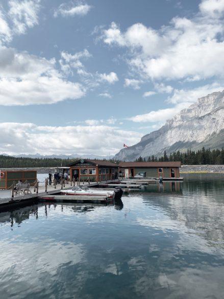 Lake Minnewanka photo of where the boat tours start