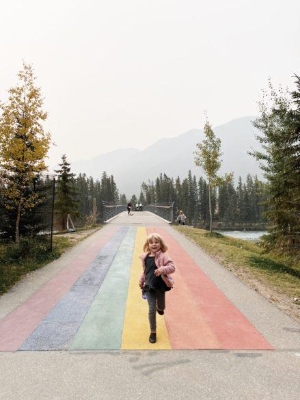 Banff Pedestrian Bridge | Easy Trails in Banff to do with kids
