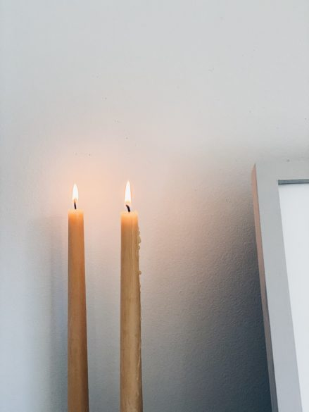 Tall Candles | Easy Thanksgiving Home Decor Ideas and Free Printables