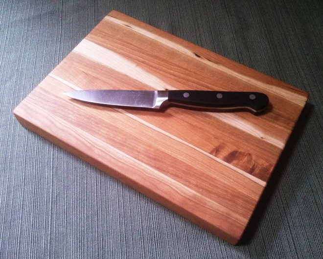 "Rustic Cherry Wooden Cutting Board 7"" x 10"" x 1"""