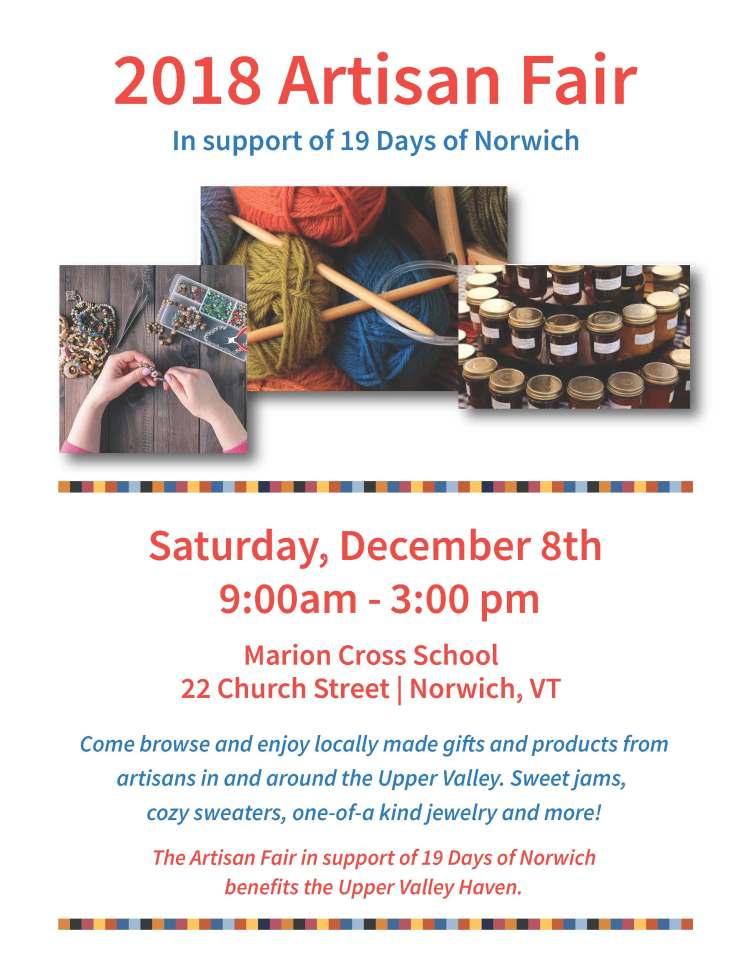 2018 Artisan Fair   Norwich, VT