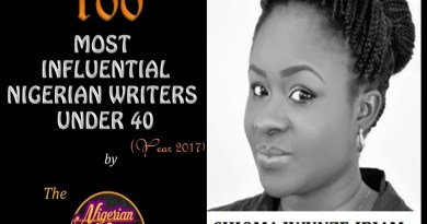 100 INFLUENTIAL NIGERIAN WRITERS UNDER 40