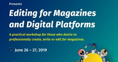 Register For SBMEN's Practical Editing Workshop for Magazines and Digital Platforms (It's Set To Hold This June)