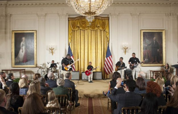 Delta Blues Museum Arts and Education Program Band Performs in the White House at the 2014 NAHYP Awards Ceremony