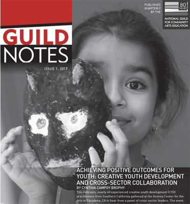 Guild Notes cover image - girl holding a mask