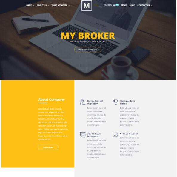 My Broker - Consulting Business and Finance WordPress Theme