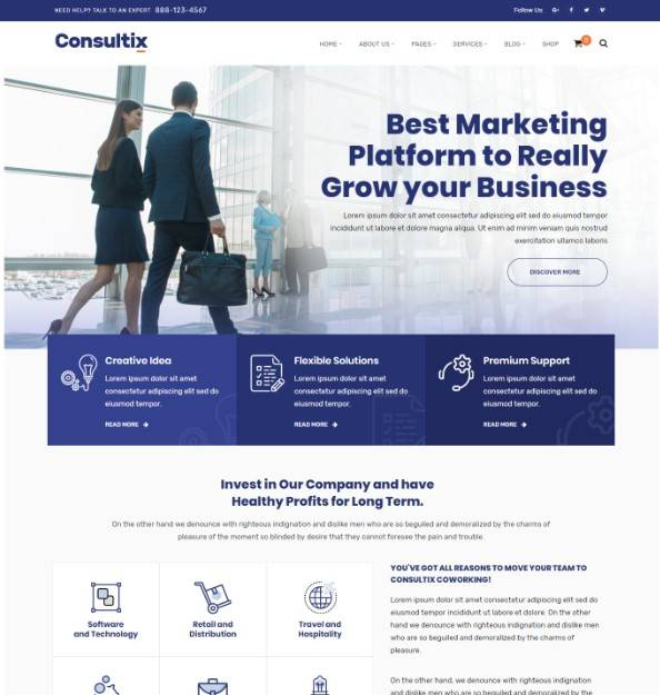 Consultix - Business Consulting Theme for Business Agency