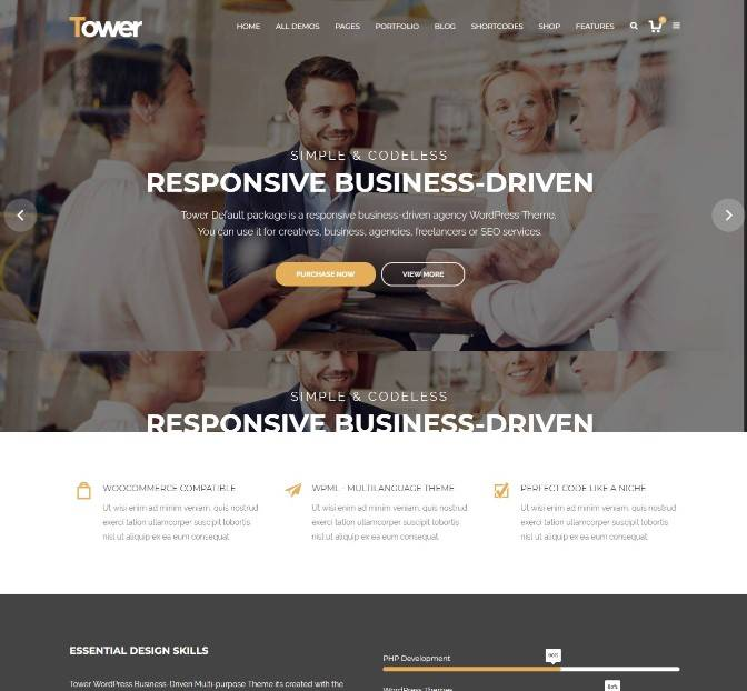 Tower | Business-Driven Multipurpose WP Theme