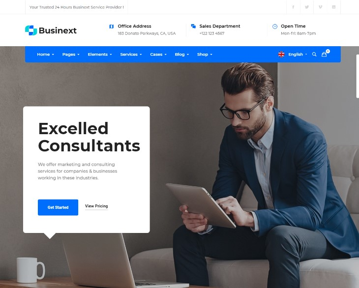 Businext - Supreme Businesses and Financial Institutions WordPress Theme