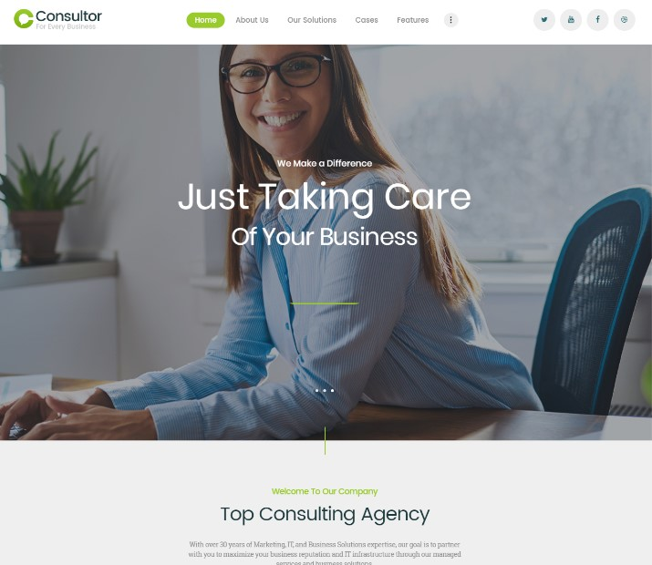 Consultor   A Business Consulting WordPress Theme