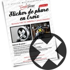 Kit stickers CROIX fermée + film jaune
