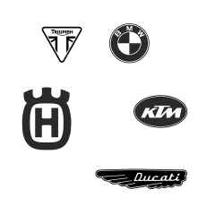 Stickers de réservoir «LOGO DE MARQUE» moto