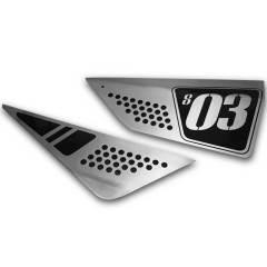 Plaques latérales en aluminium pour DUCATI Scrambler 803cc