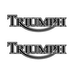 Stickers de réservoir «TRIUMPH» vintage