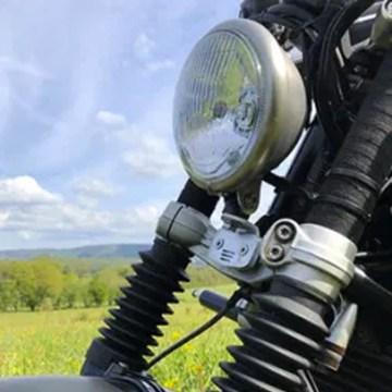 Kit phare BATES finition vieillie grand modèle & son support pour BMW Nine T