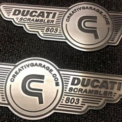 Badges Ducati Scrambler 803cc fraisés