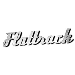 Mot «FLATTRACK» découpé en aluminium