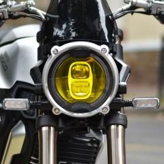 Sticker NEO pour optique de phare ronde Moto – Jaune