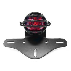 Support de plaque en aluminium + feu arrière Motone Eldorado Grille noir pour ROYAL ENFIELD Interceptor / Continental GT650