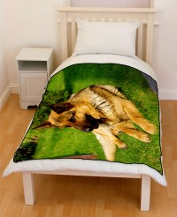 German Shepherd Dog Bedding Throw Fleece Blanket ...