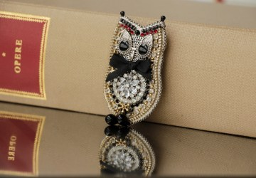 Owl and eye. Amulet brooches.